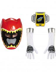 Kit Power Rangers™ Dinocharge vermelho criança