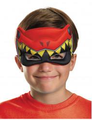 Meia máscara Power Rangers™ Dinocharge vermelho criança