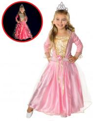 Disfarce princesa cor-de-rosa cintilante menina