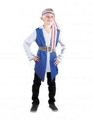 Disfarce pirata azul menino