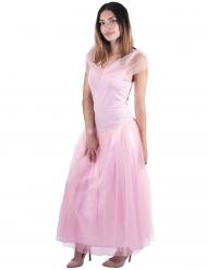 Disfarce princesa romântica cor-de-rosa mulher