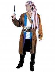 Disfarce luxo pirata azul - homem