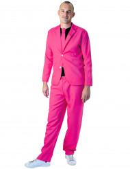 Fato fashion cor-de-rosa fluo adulto