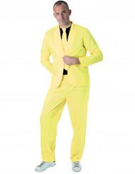 Fato fashion amarelo fluo homem