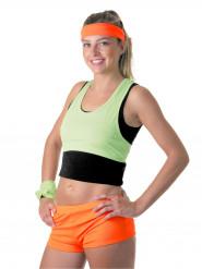 Mini calção cor de laranja fluo mulher