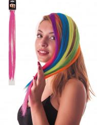 Mecha de cabelo cor-de-rosa fluo para fixar