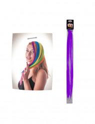 Mecha de cabelo lilás para fixar