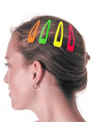 4 Travessões para o cabelo coloridos