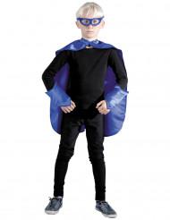 Kit super-herói azul criança
