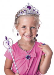 Kit acessórios princesa lilás menina