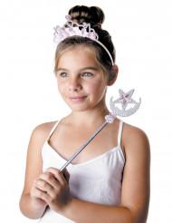 Diadema e varinha de princesa menina