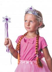 Kit acessórios princesa das neves lilás menina