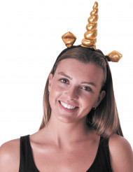 Bandolete unicórnio dourado adulto