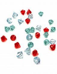 30 pedras preciosas falsas coloridas