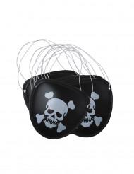 6 Tapa-olho de pirata plástico