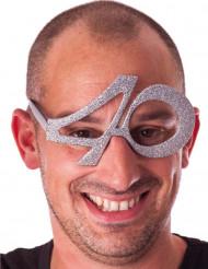 óculos de purpurinas 40 anos