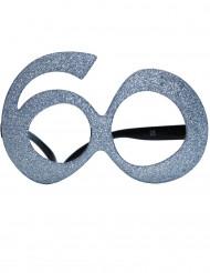 óculos com purpurinas 60 anos