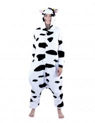 Disfarce kigurumi vaca adulto
