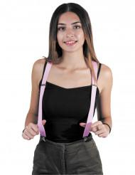 Suspensórios cor-de-rosa adulto