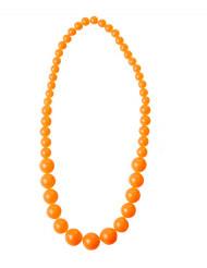 Colar de pérolas cor de laranja adulto