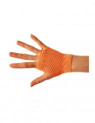 Miténes curtas cor de laranja de rede adulto