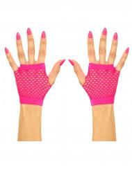 Miténes curtas cor-de-rosa de rede adulto