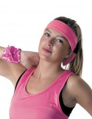 Bandolete cor-de-rosa fluo anos 80 adulto