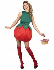 Disfarce vestido morango mulher