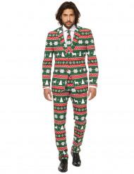 Fato Mr. Festive verde homem Opposuits™ Natal