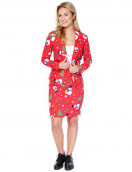Fato Mrs. Snowmiss mulher Opposuits™ Natal
