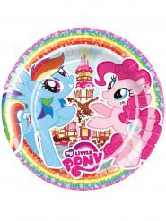 8 Pratos de cartão My Little Pony™ 23 cm