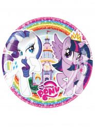 8 Pratos de cartão My Little Pony™ 18 cm