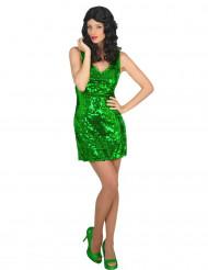 Disfarce vestido disco sexy verde  mulher