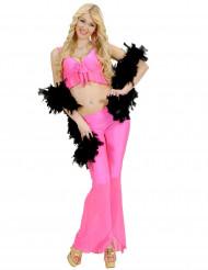 Disfarce disco sexy fluo cor-de-rosa mulher