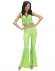 Disfarce disco sexy fluo verde mulher
