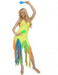 Disfarce dançarina brasileira amarelo fluo mulher
