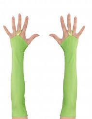 Miténes compridos verdes fluo mulher