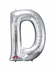 Balão de alumínio gigante Letra D prateada