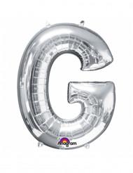 Balão de alumínio gigante Letra G prateada