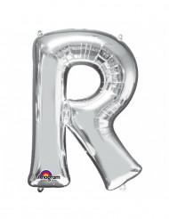 Balão de alumínio gigante Letra R prateada