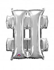 Balão de alumínio gigante # prateado