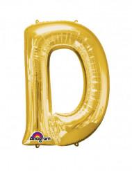 Balão de alumínio gigante Letra D dourada