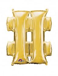 Balão alumínio gigante símbolo # dourado