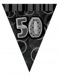 Grinalda bandeirolas cinzentas 50 anos