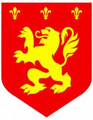 Brasão medieval leão vermelho