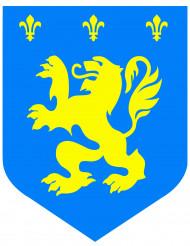 Brasão medieval leão azul