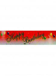 Bandeirola Happy Birthday vermelha