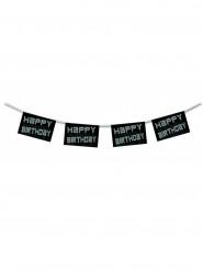 Grinalda Happy Birthday preta e branca