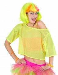 T-shirt curta rede amarela anos 80