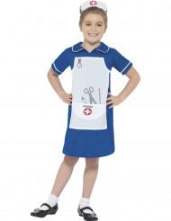 Disfarce enfermeira azul menina